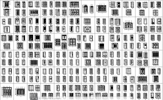Door Design Autocad Files