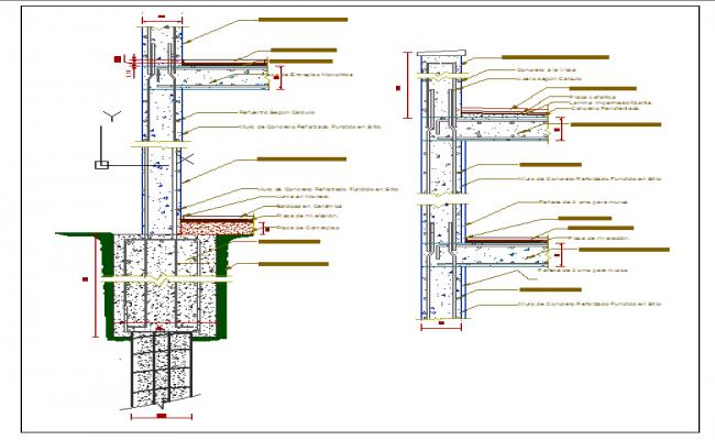 Pile Foundation Drawing : Pile foundation details dwg file