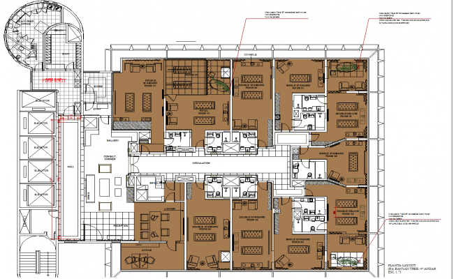 spa massage center interiors layout dwg cad drawing