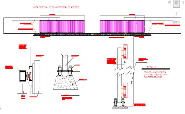 Sliding gate design