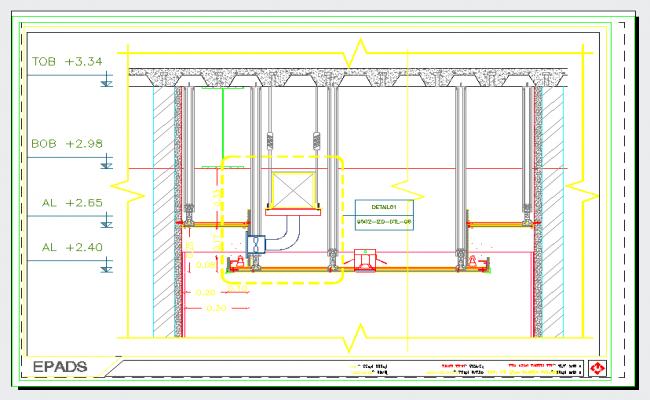 False Ceiling Plan Elevation Section : Suspended ceiling details